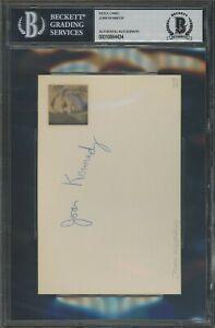 4434 Joan Kennedy Signed Index Card AUTO Autograph Beckett BGS BAS