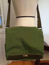 TUMI laptop messenger bag 100% nylon & leather garden green unisex
