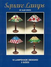 Square Lamps Stained Glass Pattern Book, Lights, Panel Lamps, Shades
