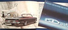 Prospekt brochure 1963 Dodge Polara * Dodge 440 * Dodge 330 * Station Wagons USA