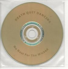 (AP560) Death Quit Dancing, No Rest For The Wick- DJ CD