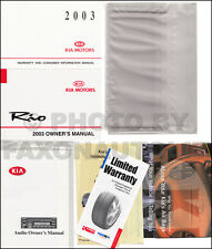 NEW 2003 Kia Rio Owners Manual Package with extras Owner Guide FEO owner guide