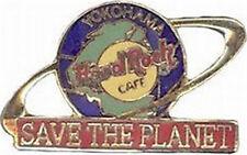 "Hard Rock Cafe Yokohama 1990s ""Save The Planet"" Globe Stp Logo Pin"