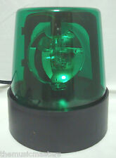 "Green 7"" Lighted Fire Police Light Beacon Rotating Spinning Flashing Party Lamp"