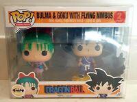 Funko Pop! Bulma & Goku With Flying Nimbus 2 Pack Dragonball Pop! Animation