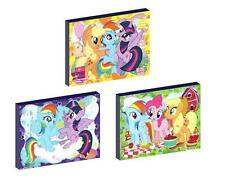 3 x MY LITTLE PONY CANVAS ART BLOCKS/ WALL ART PLAQUES/PICTURES