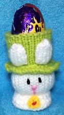 KNITTING PATTERN - Easter Bunny Head chocolate cover fits Creme Egg