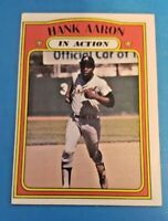 1972 TOPPS #300 HANK AARON IA IN ACTION HOF ATLANTA BRAVES (EX-MT to NM)