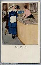 B. W. BELLE EPOQUE Al Caffè Donnine Moda Cappelli PC Circa 1910