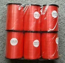 Job Lot Rouge Curling Ruban 5 mm X 500 M Ballon Bouquet Décoration (15 bobines)