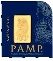 Set of 2 * 1 Gram Pamp Suisse Gold Bar .9999 Fine Multigram Fortuna Veriscan