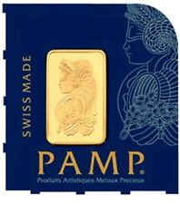 1 Gram Pamp Suisse Gold Bar .9999 Fine Multigram Fortuna Veriscan