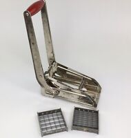 Vintage Ekco French Fry Vegetable Cutter with Wooden Handle Wall Mount Decor PB
