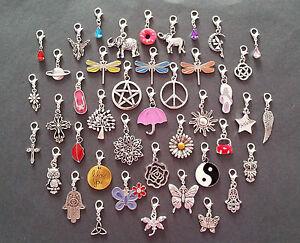 Clip On Dangle Charms for Memory Locket / Bracelet / Keyring *Buy 2 Get 1 Free*