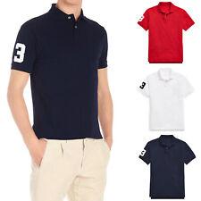 Polo Uomo 100% Cotone Maglietta Casual Maglia Mezza Manica Corta T-Shirt VEQUE
