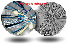 Niue 2016, SPEED OF LIGHT, CODE OF THE FUTURE, 2oz silver, $2