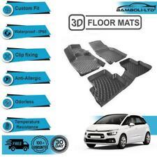 3D Molded Interior Car Floor Mat for Citroen C4 Picasso(Black)