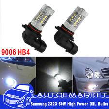 2X 9006 HB4 6000K White LED Fog Driving Light 2323 80W DRL Bulb High Power Lamp
