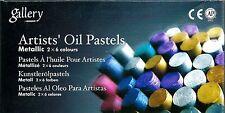 MUNGYO 12-PIECE METALLIC OIL PASTELS ~ NEW PASTEL SET