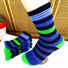 1Pairs Mens Socks Lot Classic Cotton Stripes Casual Dress Socks 18*17cm CH24