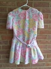 Vintage JCPenney Wildflower Collection Girls Floral Dress SIze 7 USA Made