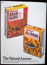 Vintage Advertising Booklet Kellogg's All Bran Cereal 1970s Fibre in the Diet