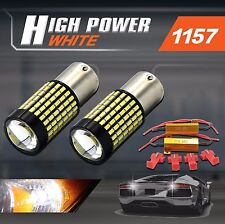 2x 1157 High Power 985LM 3014 LED Bright White 6000K Turn Signal Lights+Resistor