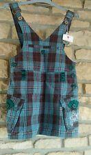 PEPE JEANS mini robe salopette T 16 ans (plutôt 14 ans) neuve étiquette écossais