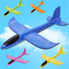 Flying Mini Foam Throwing Glider Inertia Aircraft Airplane Kid Hand Launch Gi JX