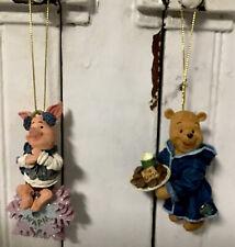 Rare Disney Exclusive Boyd's Christmas Ornament Winnie The Pooh & Piglet