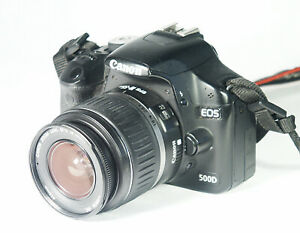 CANON EOS500D 15,1 MP DIGITALE SPIEGELREFLEXKAMERA MIT OBJEKTIV