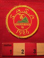 Vtg 1986 VIRGINIA BEACH Patch South Atlantic Shrine Assoc. Shriner 66WB