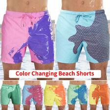 Men Color Changing Trunks Swimming Shorts Beach Swim Shorts Bathing Board Shorts
