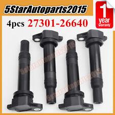 4x OEM# 27301-26640 Ignition Coil for Hyundai Accent Kia Rio Rio5 2006-2011 1.6L
