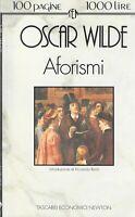 Aforismi - Wilde - newton compton - 2° ed. tascabili economici newton 1/1993