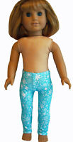 "Aqua Snowflake Leggings for 18"" American Girl Doll Clothes EXCLUSIVE!"