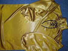 Plus Size Satin! Special Slinky Shine Deep Gold Satin Balloon Shirt Gown