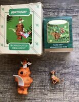 2 Vintage Hallmark Christmas Ornaments, Scooby Doo & Heathcliff With Boxes