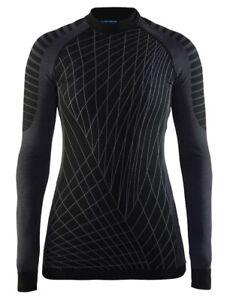 Funktionsshirt CRAFT Intensity, Damen, Kompression, Langarm, schwarz grau