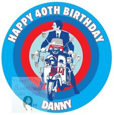 MODS SCOOTER CAKE TOPPER PRINTED EDIBLE ICING SHEET QUADROPHENIA