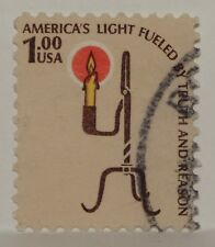 VINTAGE STAMPS AMERICAN AMERICA USA 1 DOLLAR RUSH LAMP CANDLE HOLDER X1 B27 #2