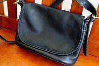 COACH Vintage Fletcher Black Leather Crossbody Bag Purse Messenger