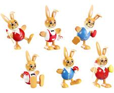 6 conejos de bola 6 cm Pascua Divertidos 6 Set holzhasen 25147