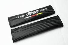 2Pcs Car Embroidery Mugen Power Carbon Fiber For Seat Belt Cushion Shoulder Pads