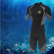 New listing Men 1.5mm Wetsuit Shorty Swimwear Back Zip Neoprene for Diving Adult L