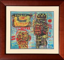 JEAN MICHEL BASQUIAT       MIXEDMEDIA ON PAPER.       HAND SIGNED AND FRAMED