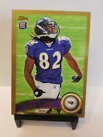 2011 Topps Gold Baltimore Ravens Football Card #274 Torrey Smith/2011