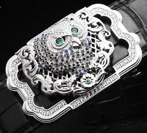 OWL DIAMONDS WOMENS DESIGNER LUXURY PIN BUCKLE ONLY FOR WOMEN 38 MM BELT BUCKLES