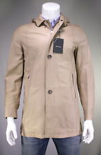 NWT New KITON Putty Colored Hooded Lambskin Leather Safari Jacket 40/M