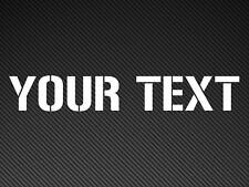 Custom Text Car Sticker Vinyl Decal. Your Personal Text Stencil Style